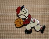Vintage Baseball Pin - Enamel Baseball Pin