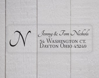Monogram Return Address Labels, Return Address Stickers, Formal Address Stickers (#310)