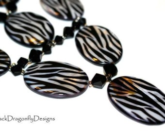 Zebra Print Necklace