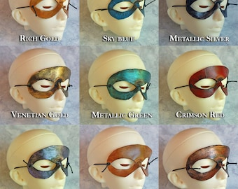BJD Doll Mini Leather Masquerade Mardi Gras Mask Choose Your Own Color