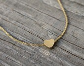 Dainty Heart Necklace, Tiny Heart Necklace, Gold Heart Necklace, USA seller, Minimalist necklace, Love necklace, Trendy gold necklace