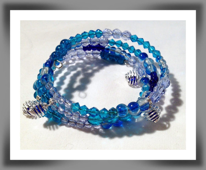 wrap around beaded bracelet stacked bracelet beaded