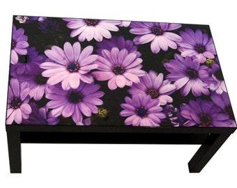 High gloss glaze etsy for Purple coffee table