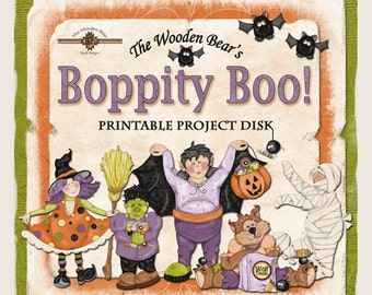 Boppity Boo Halloween Printables Disk- 6 Character Sets Included