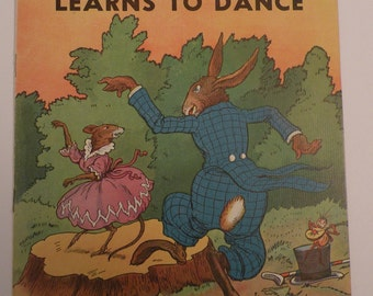 Uncle Wiggily Learns to Dance 1939 by Howard R Garis, Classic Children Story illustrated by George Carlson, soft cover Platt and Munk