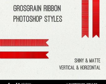 Grosgrain Ribbon Photoshop Layer Style for Designing and Scrapbooking