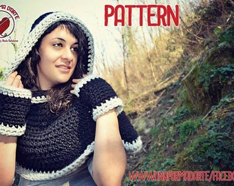 Cappuccione crochet Pattern with matching Gloves