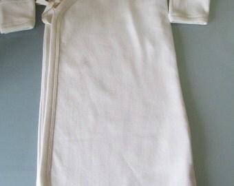 Organic Cotton Newborn Kimono Wrap Nighty - Yukata