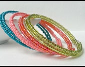Beautiful memory wire bracelet. Many colors to choose from ~Create your own! ~ Wrap bracelet. Stackable bracelet