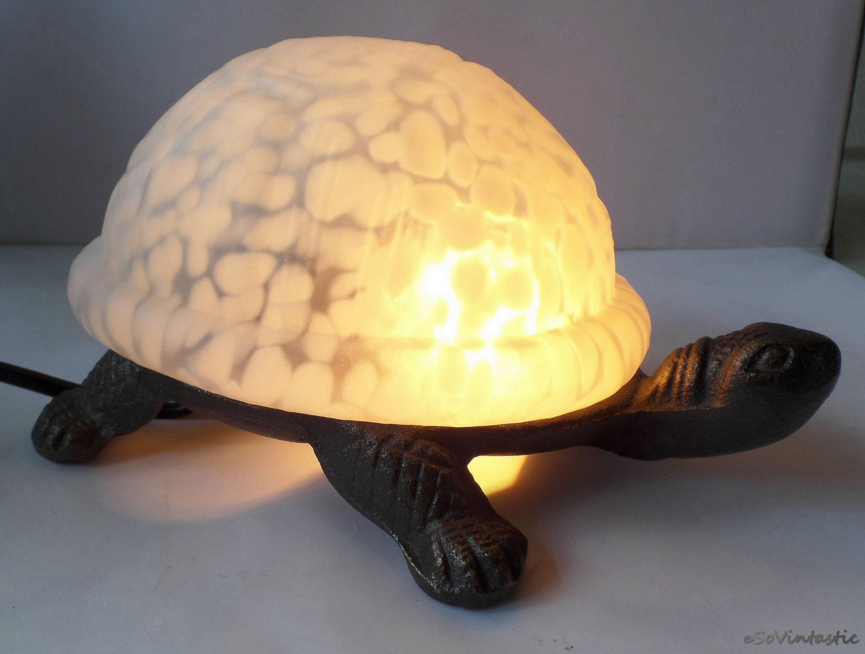 Meyda tiffany turtle lamp tiffany turtle light slag glass - Turtle nite light ...