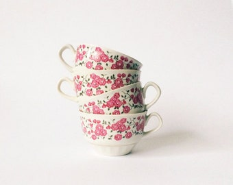 Vintage Porcelain Cup Pink Flowers