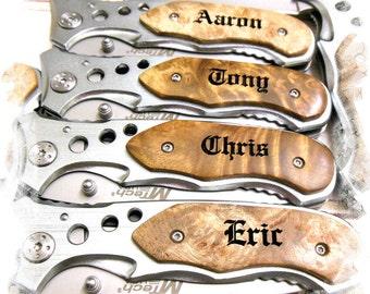 Engraved Pocket Knife ( Set of 1 ) Boy scout Knife , Monogram Engraving ,Groomsman Gift ,Camping Knife - Hunting Knife