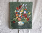 Vintage Colorful Floral Painting