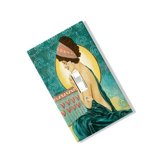 Items Similar To Praying Woman Art Deco Light Switch Cover
