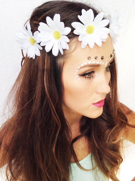 White Daisies Tumblr Daisy Flower Crown White Daisy