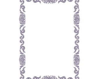 Frame, border, ornament, pattern, machine embroidery design