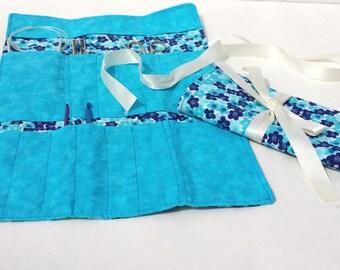 Blue Crochet Organizer Roll