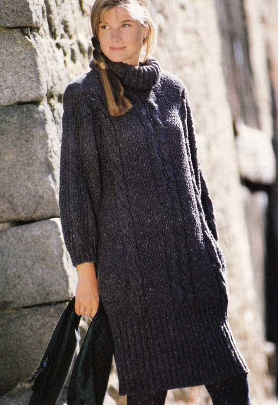Knitting Pattern Jumper Dress : Vintage Knitting Pattern Instructions to Make a by LucysPatternBox
