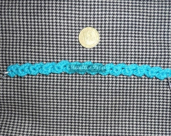 Blue lace bracelet with silver clasp