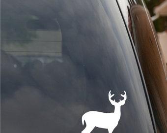 Deer Buck Antlers Rack Hunting Window Vinyl Decal Sticker