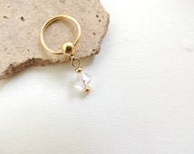 Gold Nipple Ring - You Choose Style, Crystal Nipple Ring, Body Piercings, Gold Nipple Jewelry, Body Jewelry, Captive Nipple Rings. 273