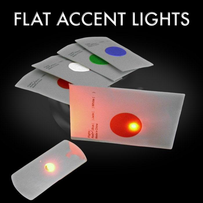 10Pack of LED Flat LEDs disc golf lights Onecolor Flat