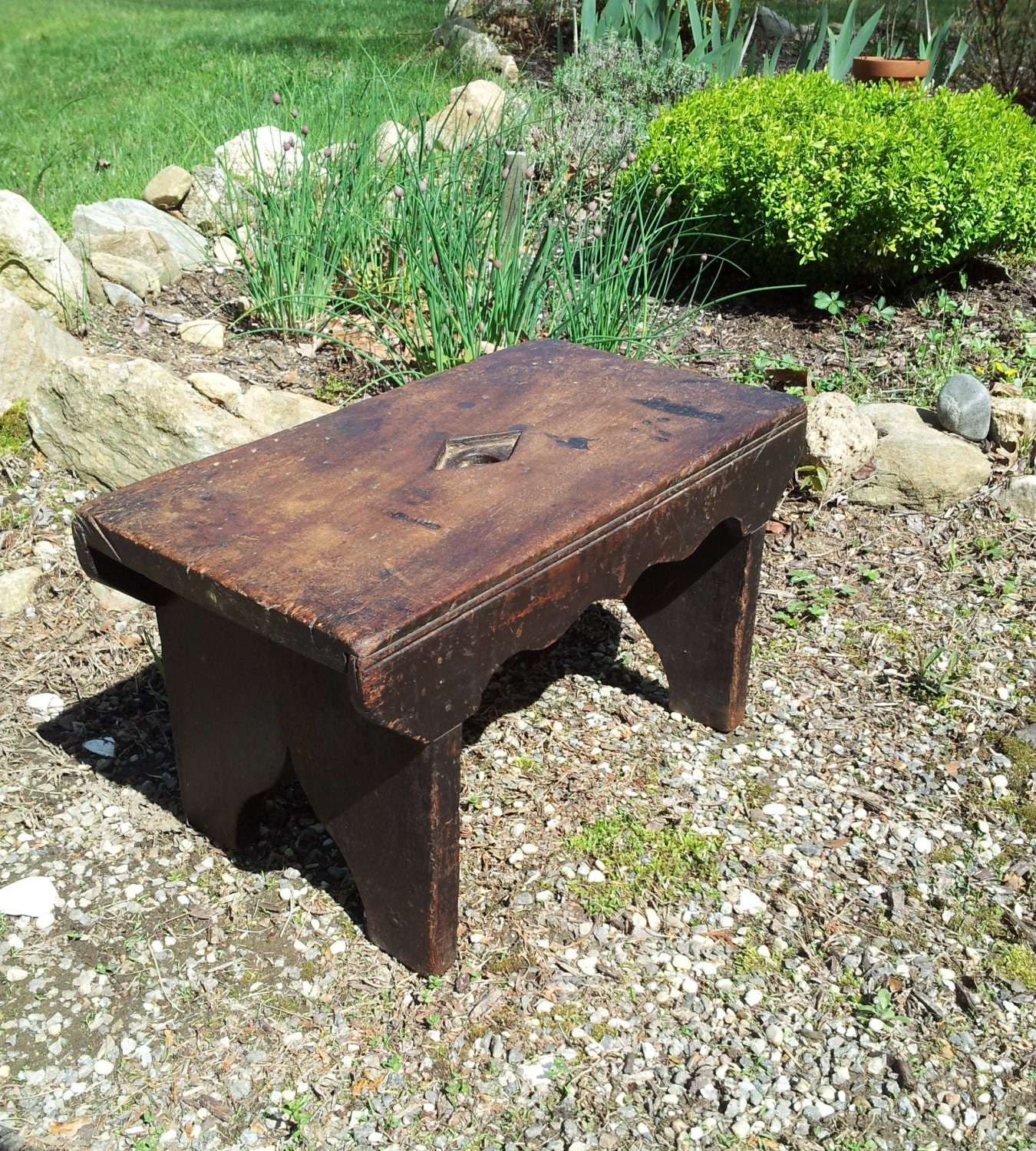 Unique Wood Benches: Early Vintage Handmade Wooden Bench