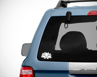 Lotus Flower Car Decal