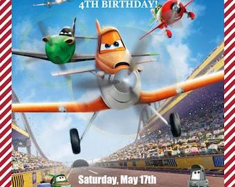 Planes Invitation, Kid's Birthday Party Invite, Birthday Invitation