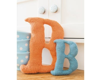 Knitted Letter B Knitting Pattern (803485)