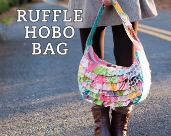Ruffle Hobo Bag Sewing Pattern Download (803015)