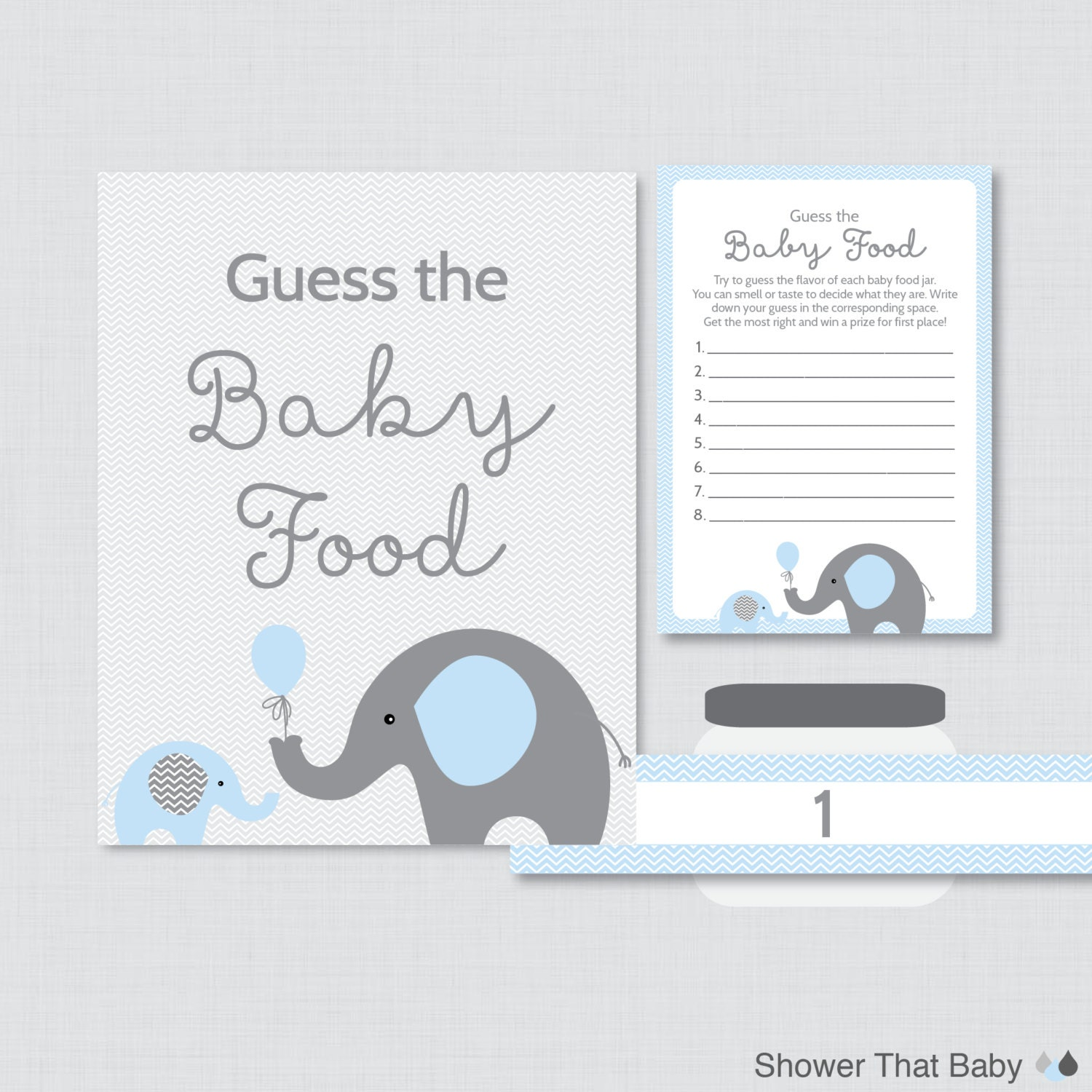 image regarding Guess the Baby Food Game Printable named Elephant Kid Guessing Sport Printable Wager reputation