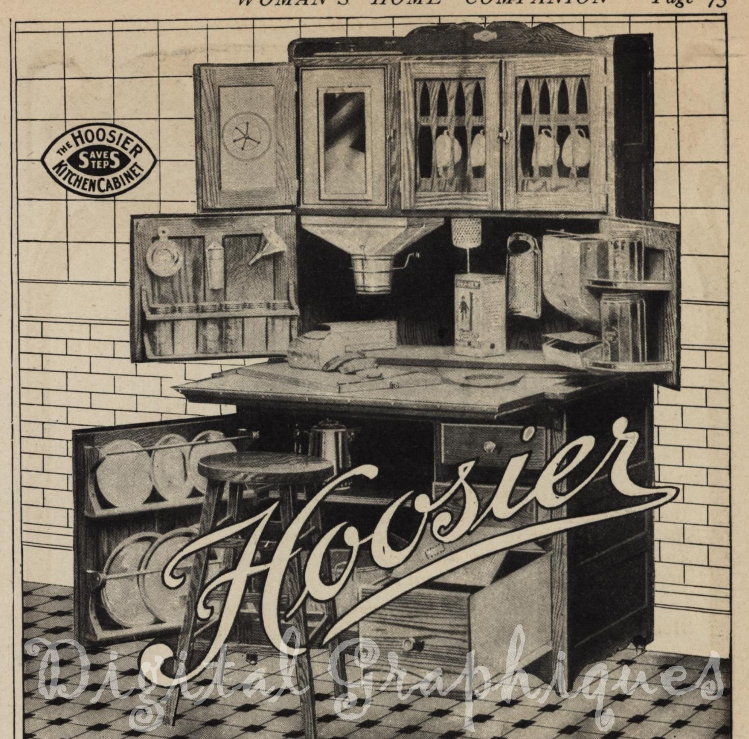 Wilson Kitchen Cabinet Hoosier Hoosier Cabinet Etsy