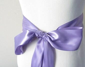 Delphinium Ribbon Sash / Double Faced Ribbon Sash / Bridal Sash / Bridal Ribbon / Delphinium