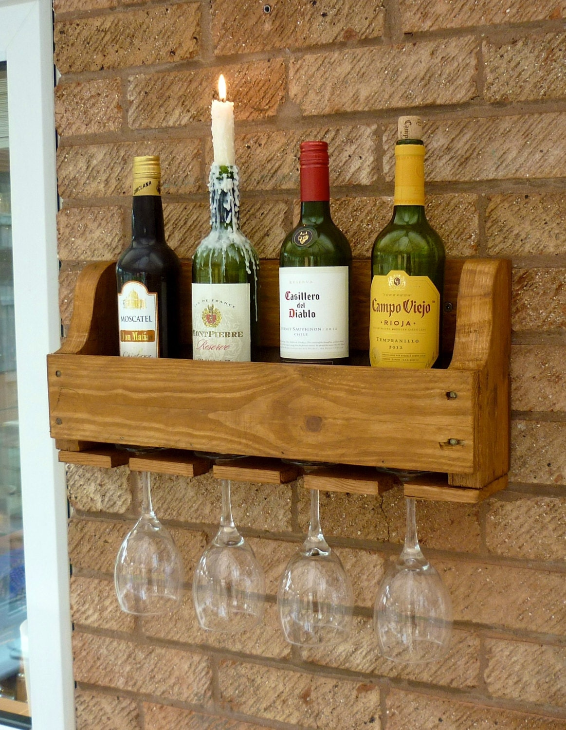 Rustic wooden wine rack antique pine by henwoods on etsy for Old wine rack