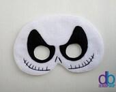 Skeleton  Felt Embroidered Mask