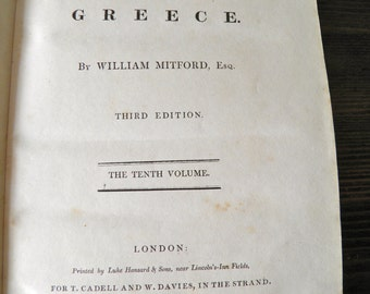The History of Greece by William Mitford, volume 10, 1821