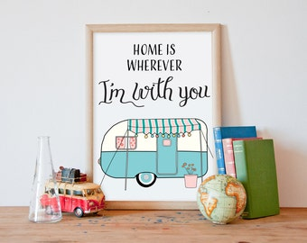 Printable art, wall art printable, nursery wall art printable, printable poster, art print, home is wherever im with you, quotes, ALL SIZES