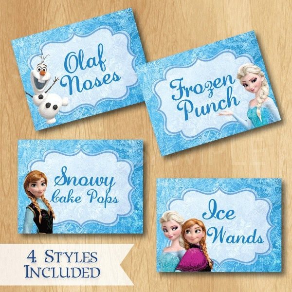 Frozen Birthday Food Labels Custom Disney By PrintMeParties