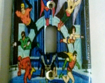 Superfriends lightswitch cover