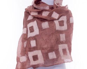 Large Nuno-felted Silk Premium Scarf, Handmade Silk Wool Nunofelted Scarf, Felted Shawl, Felted Eco Wool , Gift idea, Gift for her, OOAK
