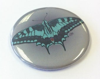 Green Butterfly - Pocket Mirror