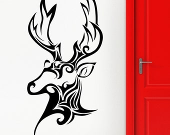 Wall Sticker Vinyl Decal Deer Hunting Trophy Animal Head Patterns Decor (ig2236)
