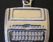 Sterling Silver Steno Machine Charm for Court Reporter