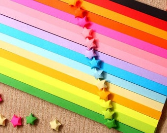 10 Bags (custom chose color) Origami Star Paper Kit  paper Strips Lucky Wishing Star paper strips one bag 85 pcs strips DIY Valentine gift