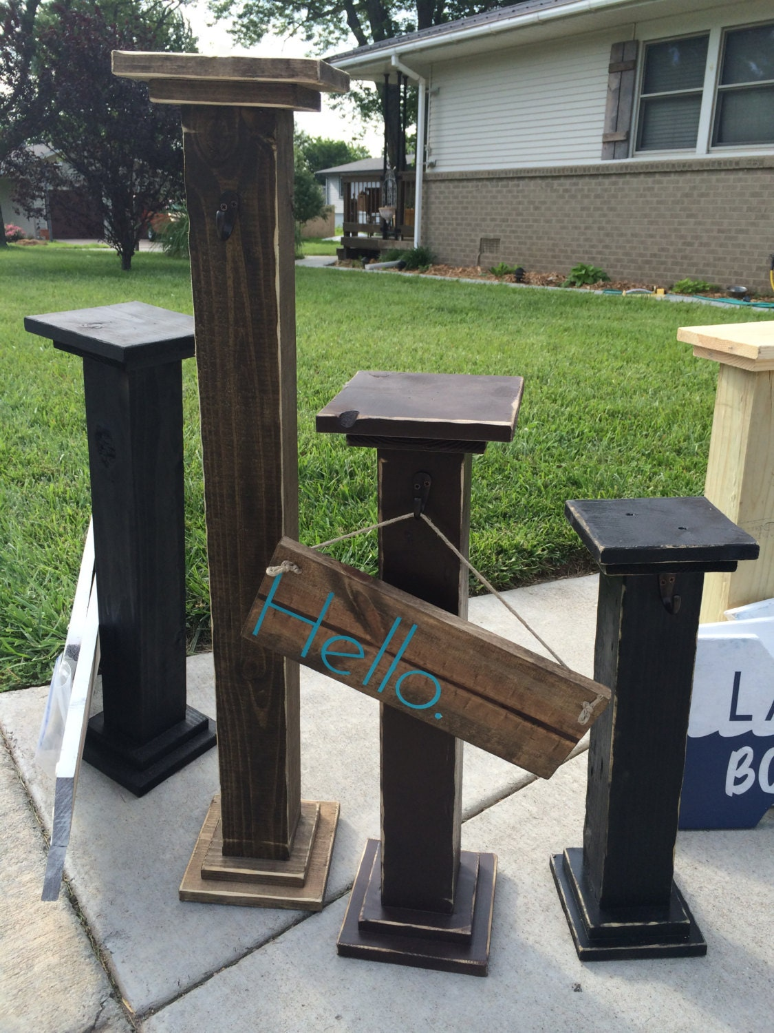 Decorative Welcome Sign Post Deck Decor Front Porch By Pottersdo