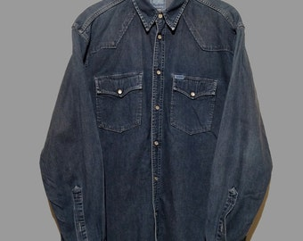 Vintage Long Sleeve Denim Shirt (L) Pepe Jeans London
