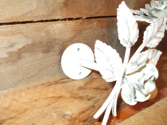 Shabby chic curtain tie back rods pair of hand by beautifulydone - Shabby chic curtain poles ...