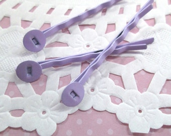 Lavender Purple 8mm Pad Bobby Pins, (Choose your amount)  lead and nickel free, C188