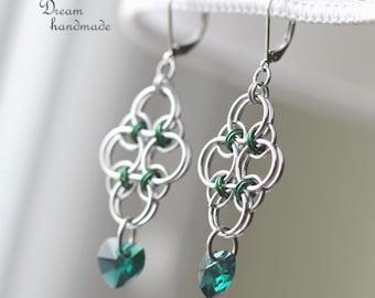 Green Earrings of Rudolfina
